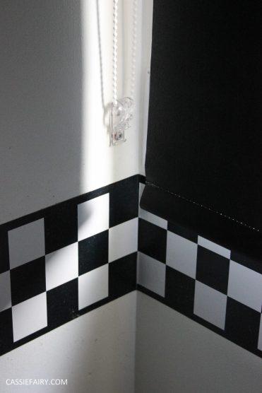black and white bathroom interior design inspiration blinds black