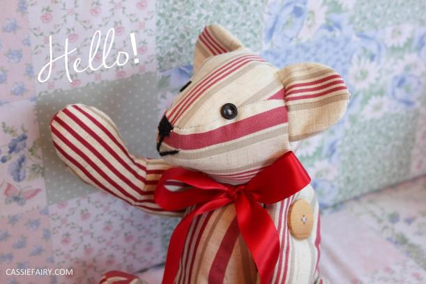 red ted teddy bear sewing project
