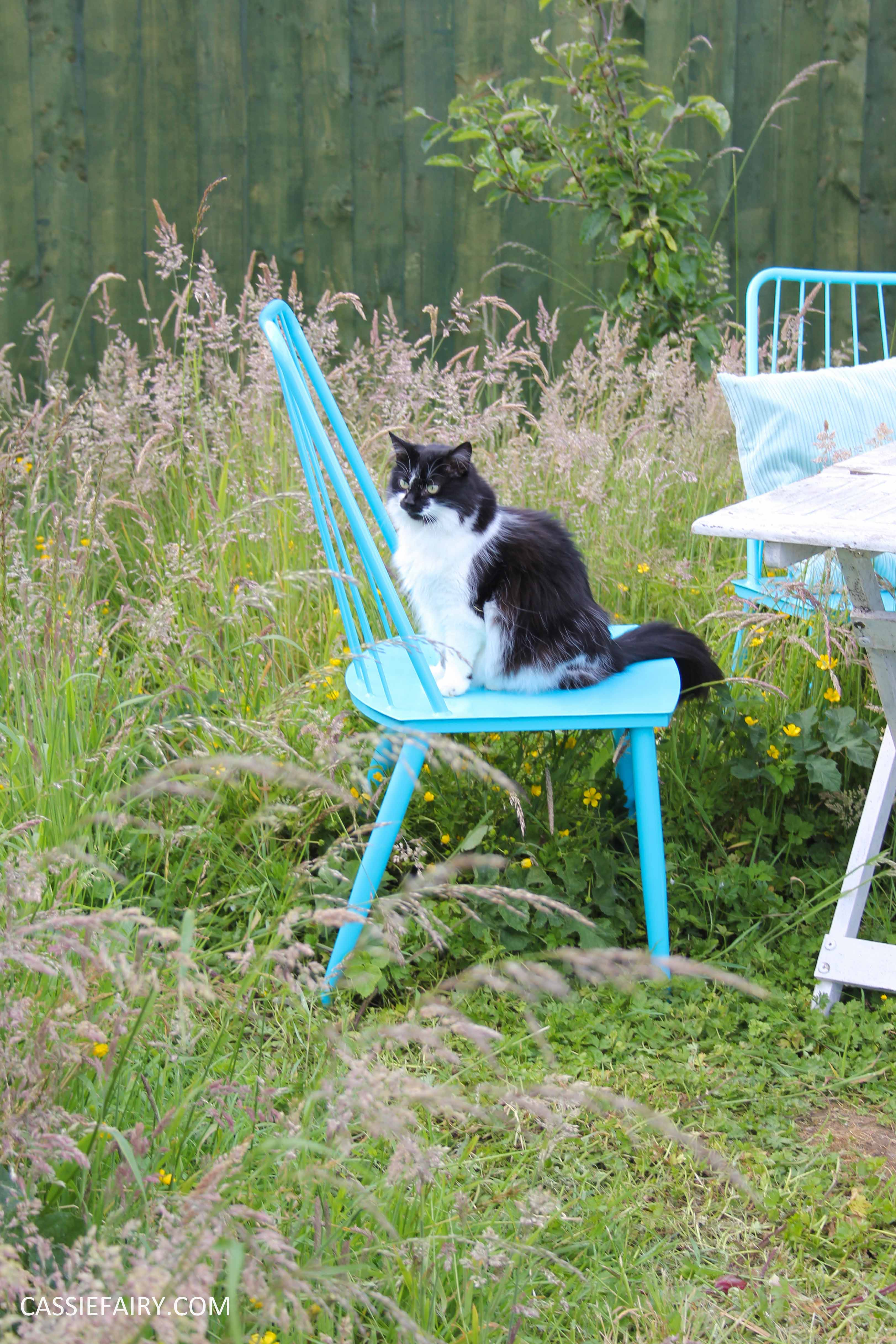 summer party - garden table and chairs in wild flower meadow-13