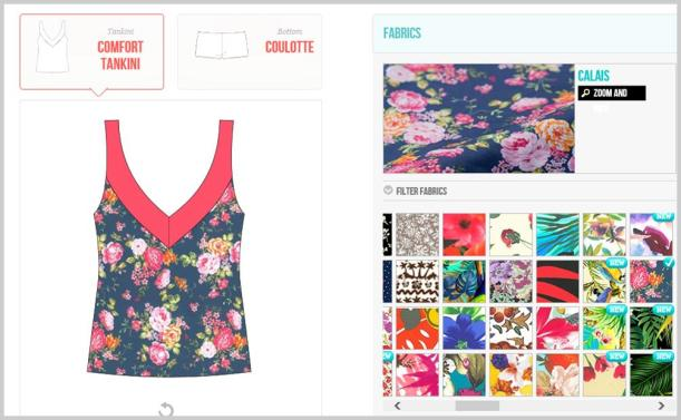 tankini design with floral fabric from surania