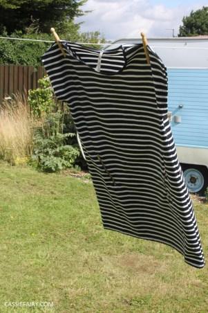 black and white stripe dress blue vanilla-2