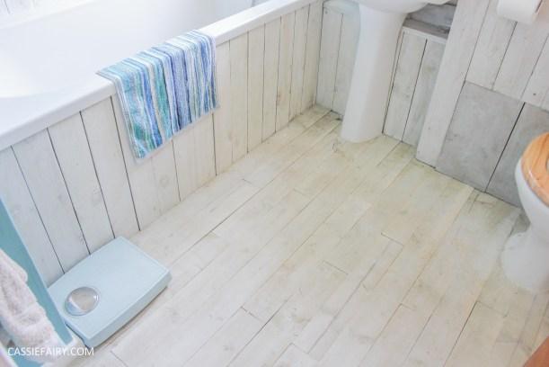 diy beach hut bathroom makeover project - low budget renovation-17