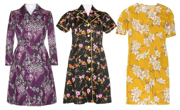 70s-80s-vintage-dress-retro-floral-pattern-dresses-autumn-winter-outfit
