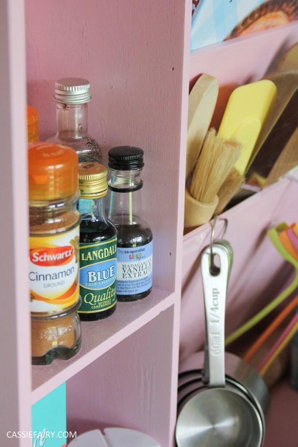 kitchen DIY furniture Makeover project bake station - storage cooking baking tutorial-13
