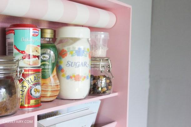 kitchen DIY furniture Makeover project bake station - storage cooking baking tutorial-14