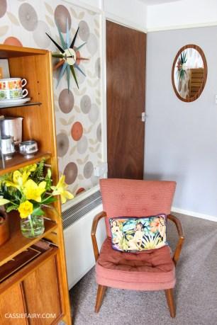 mid century modern interior design starburst clock-10