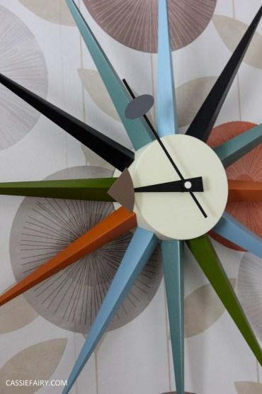 mid century modern interior design starburst clock-13