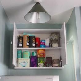 My mini kitchen makeover - Using bathroom storage in the kitchen
