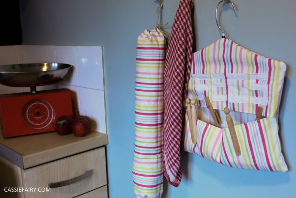 diy kitchen sewing projects peg bag and bag holder-20