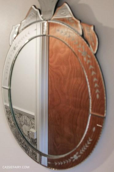 monochrome home interior design black and white decor hallway makeover dado rail rug-31