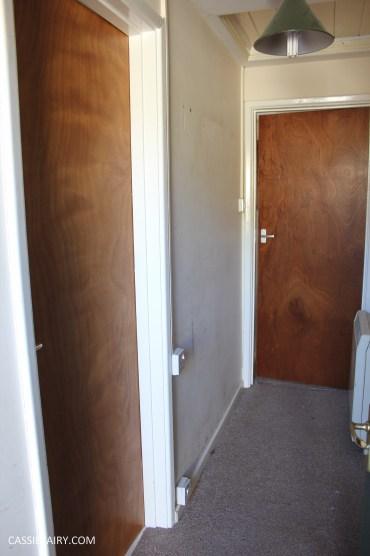 monochrome home interior design black and white decor hallway makeover dado rail rug