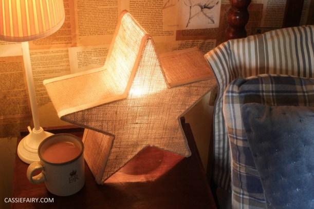 interior design - cosy autumn winter bedroom styling idea inspiration festive-16