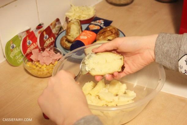 primula evening snack recipe loaded ham and cheese potato skins-3