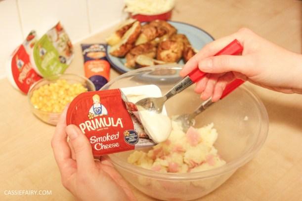 primula evening snack recipe loaded ham and cheese potato skins-4