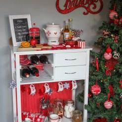 DIY Christmas drinks cart project