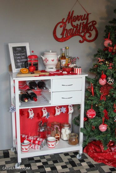 DIY Christmas drinks cart project