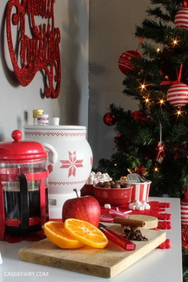 custom made DIY christmas drinks cart project mulled wine hot chocolate spied latte-23