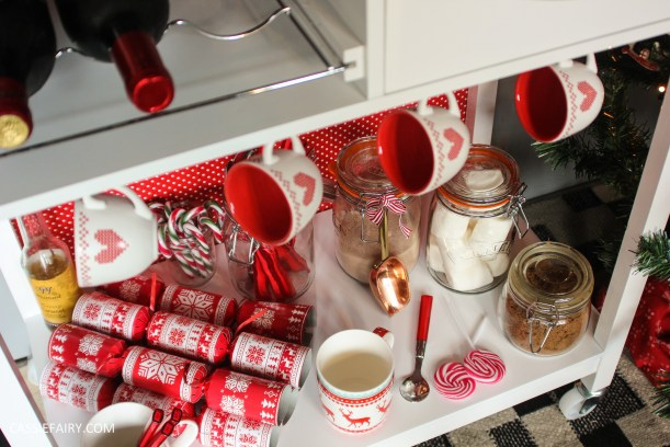 custom made DIY christmas drinks cart project mulled wine hot chocolate spied latte-30