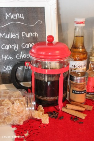 custom made DIY christmas drinks cart project mulled wine hot chocolate spied latte-44