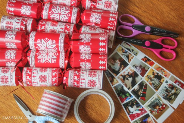 personalised christmas crackers diy project