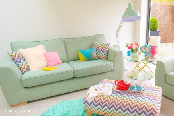 DFS candy colours interior design inspiration for spring summer 2016 sofa 2
