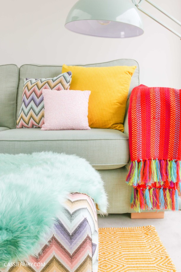 DFS candy colours interior design inspiration for spring summer 2016 throw 1