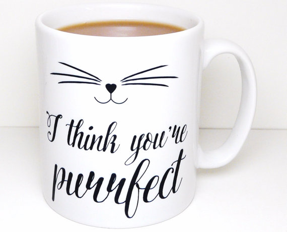 purrfect cat mug quote design from etsy