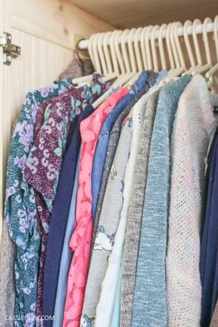thrifty wardrobe makeover tip money saving inspiration hack