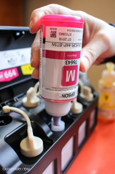 diy printed personalised valentines birthday card epson printer craft tutorial printer review epson et-2500-5