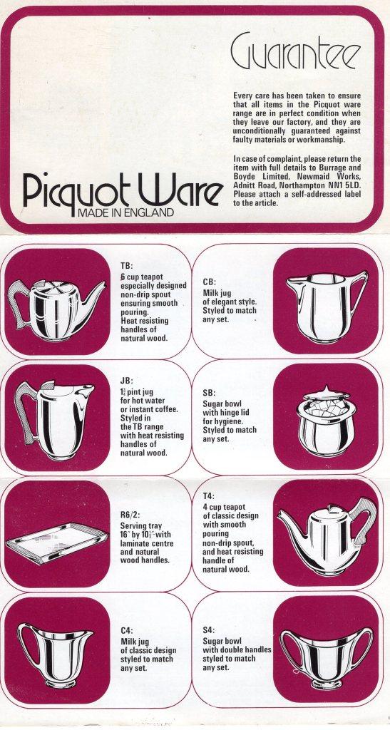 Picquot Ware Guarantee