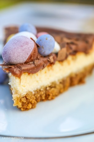easter baked chocolate cheese cake recipe-3