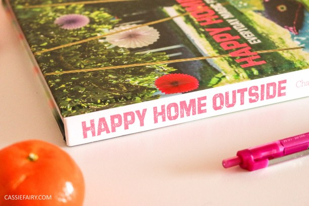 happy home outside book review garden inspiration summer party