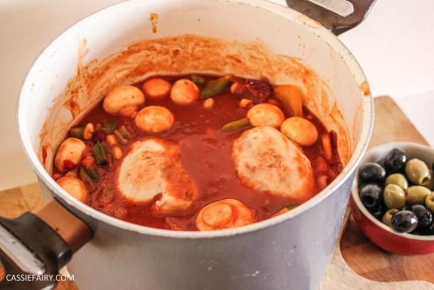 mediterranean italian chicken and bean stew recipe cooking casserole