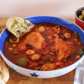 Mediterranean Chicken & Bean Stew