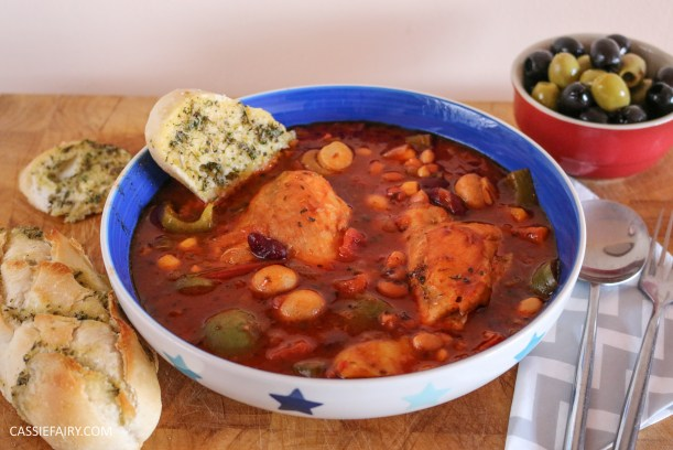 mediterranean italian chicken and bean stew recipe cooking slow cooker casserole-2