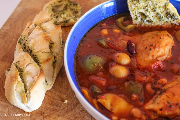 mediterranean italian chicken and bean stew recipe cooking slow cooker casserole-5