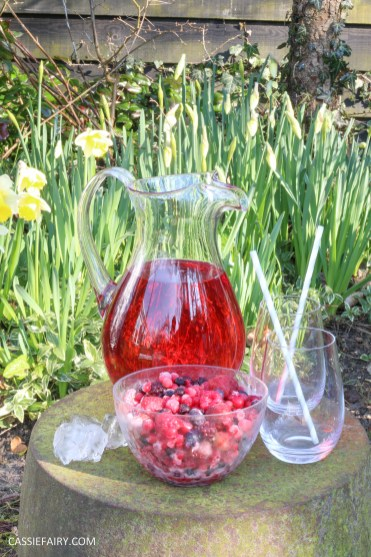 summer fruit punch recipe cranberry raspberry fizz for easter