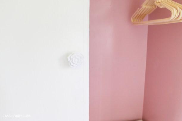 bright colour pink painted bedroom cupboard wardrobe interior diy interior design idea-15