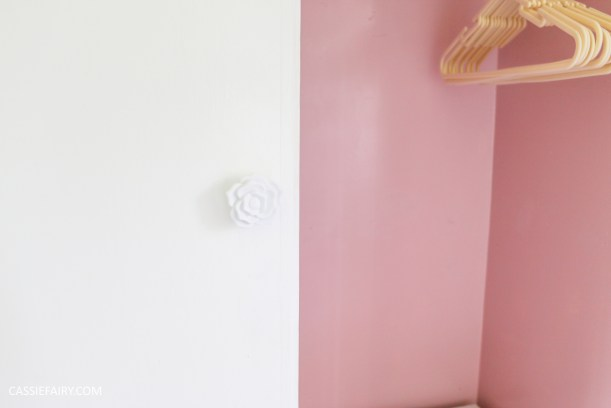 bright colour pink painted bedroom cupboard wardrobe interior diy interior design idea-15