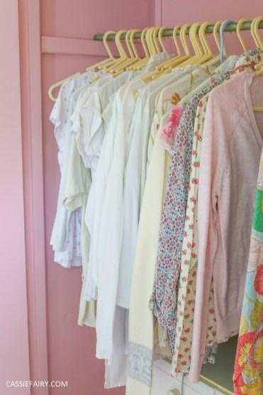 bright colour pink painted bedroom cupboard wardrobe interior diy interior design idea-7