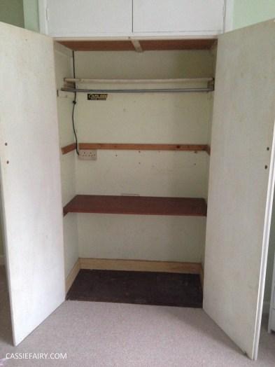bright colour pink painted bedroom cupboard wardrobe interior diy interior design idea