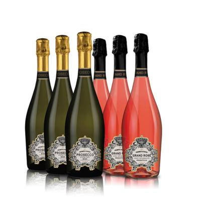 prize case of sparkling wine from premier estates prosecco rose competition
