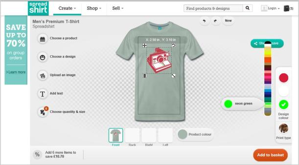 spreadshirt design your own t shirt diy step by step camera polaroid