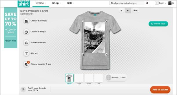 spreadshirt design your own t shirt diy step by step train top