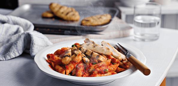 chicken pasta healthy frozen meal thrifty