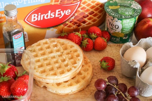 birds eye breakfast waffles eggy bread french toast fruit breakfast brunch recipe idea