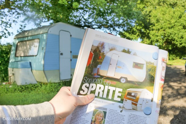 caravan magazine cassiefairy alpine sprite camper trailer makeover renovation project-5
