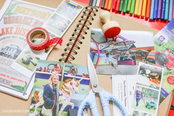 rainy day activity summer holidays scrapbook craft