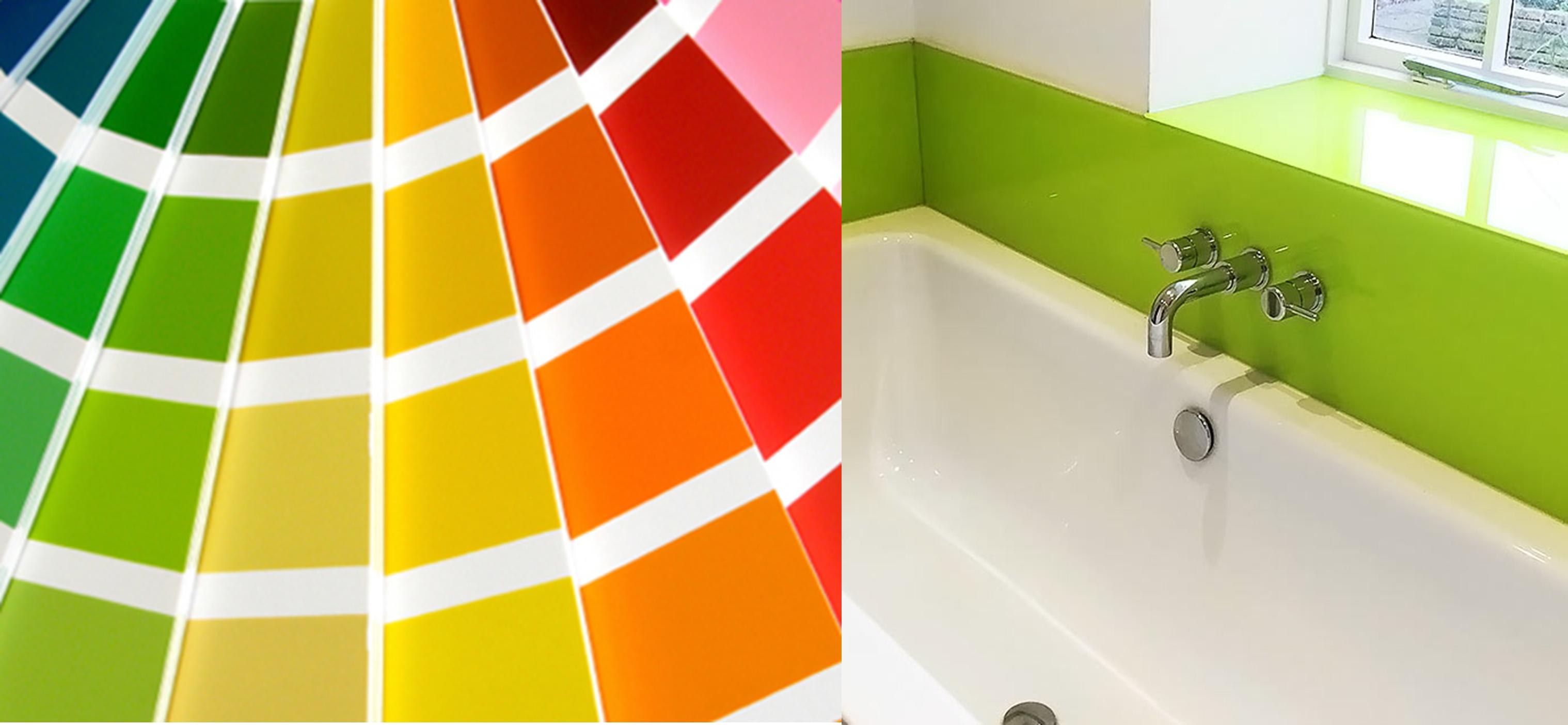 For A Seamless Colour Scheme It Is Now Possible To Have Glass Splashbacks Matched The Paint You Used On Walls