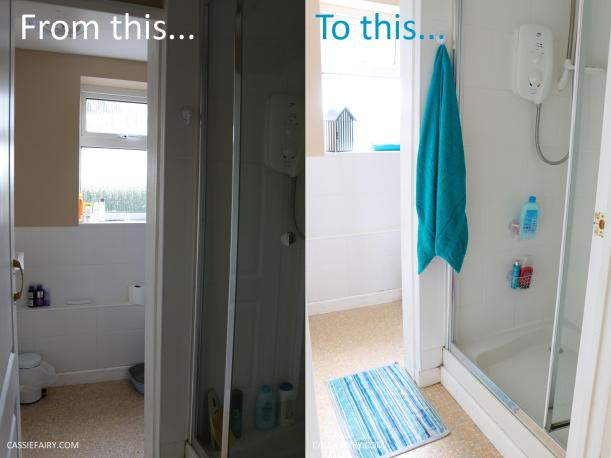 budget bathroom mini makeover holiday summer beach